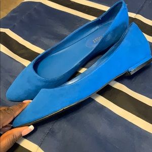 Nine West Blue Flats. Size 7.5